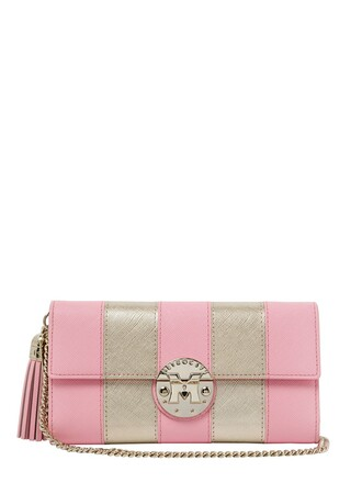 leather clutch clutch leather gold pink bag