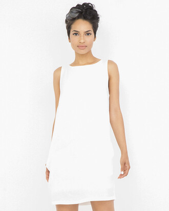 dress white white  dress sleveless tunic dress pockets