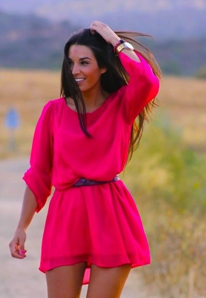 dress, hot pink, hot pink dress, gorgeous, funny, fuchsia ... - photo#25