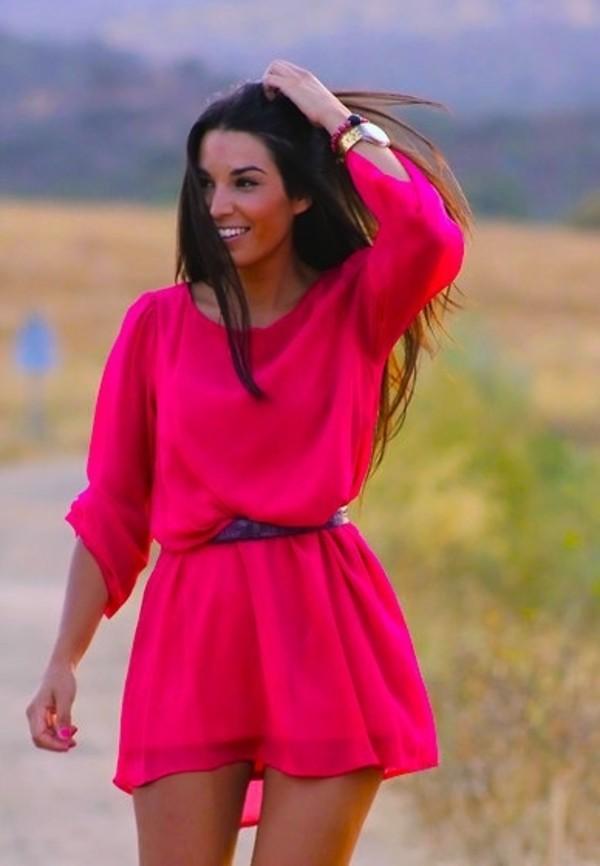 dress hot pink hot pink dress gorgeous funny fuchsia pink pink dress