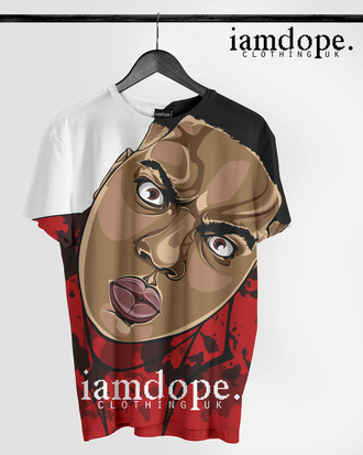 t-shirt cartoon dope biggie smalls notorious big tshirt allover print hiphop
