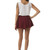 Lovers Skater Skirt in Burgundy – Wunderlust