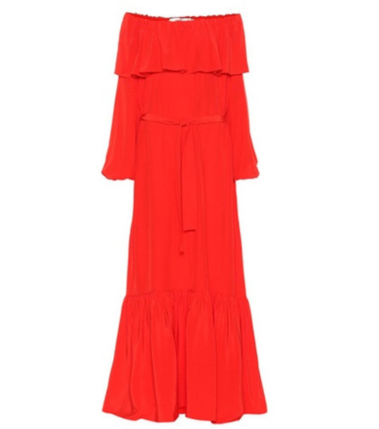 The Row Roosho silk gown in red