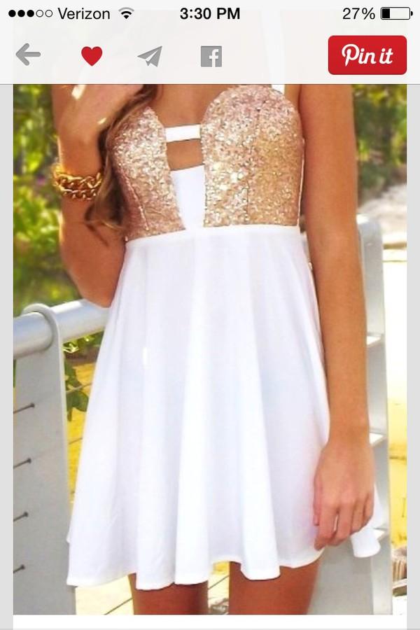 short white as gold dress