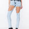 Hole lotta leg acid washed jeans gojane.com