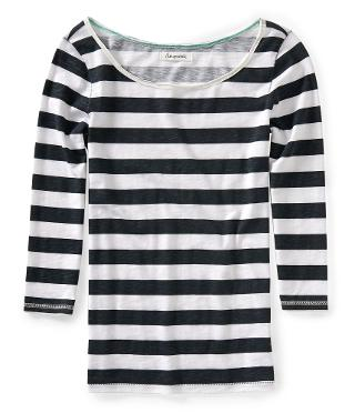 Long Sleeve Striped Tee -