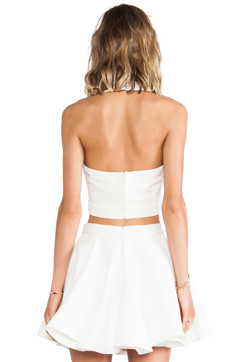 AQ/AQ Monica Crop Top in Cream from REVOLVEclothing.com
