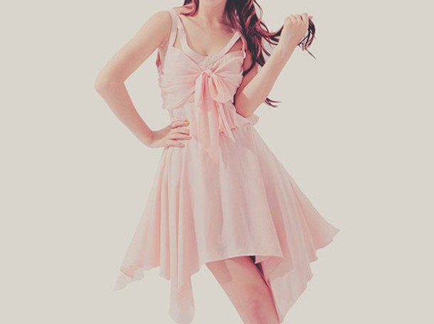 dress bow pink cute
