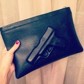 bag,black,gun,borsa,pistola