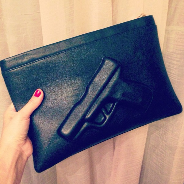 bag black gun borsa pistola
