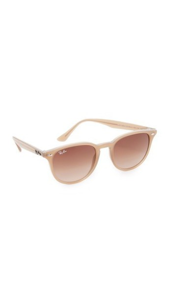 Ray-Ban Highstreet Round Sunglasses - Shiny Opal Beige/Brown