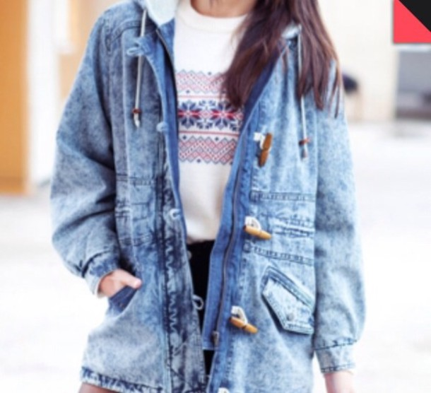 Denim Parka Coat