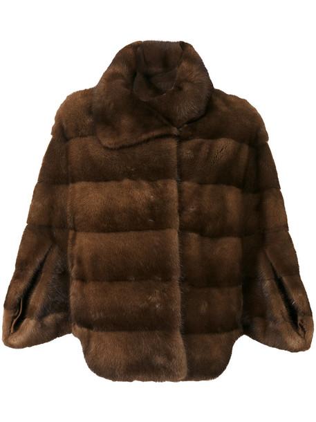 Liska coat fur coat fur fox women brown