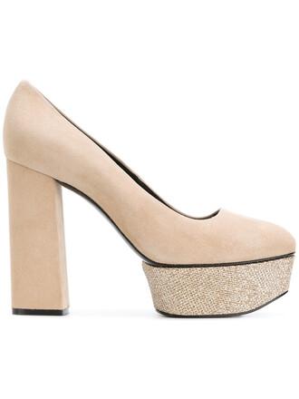 women pumps platform pumps leather nude shoes