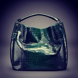 bag purse patent leather dark green