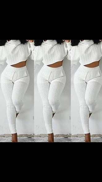 sweater sweater leggings two-piece two piece dress set