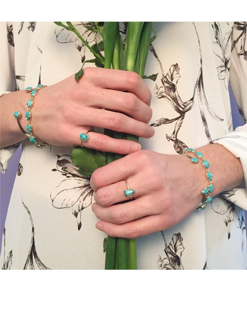 Hanna Bracelet In Turquoise Magnesite Kendra Scott Jewelry