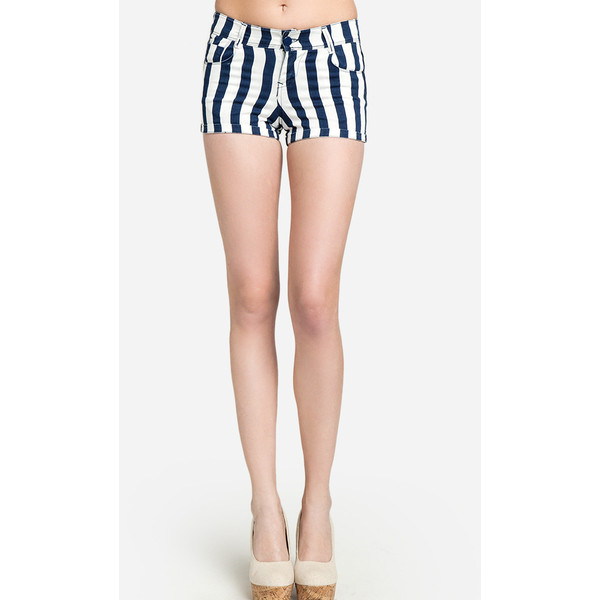 Sailor Striped Denim Shorts - Polyvore