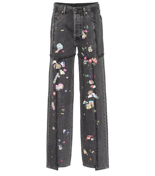 Vetements X Levi's® high-rise wide-leg jeans in black
