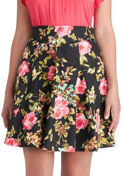 Black Floral Skirt | Modcloth.com
