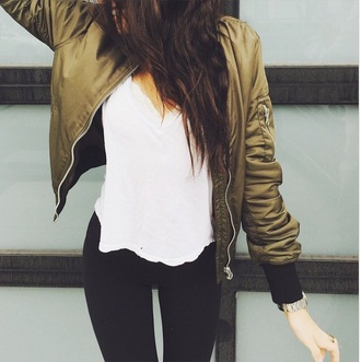 jacket army green jacket madison beer bomber jacket