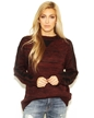 For love & lemons knitz zoey sweater in heathered wine