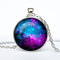 Nebula pendant galaxy necklace turquoise white jewelry necklace for him art gifts for her