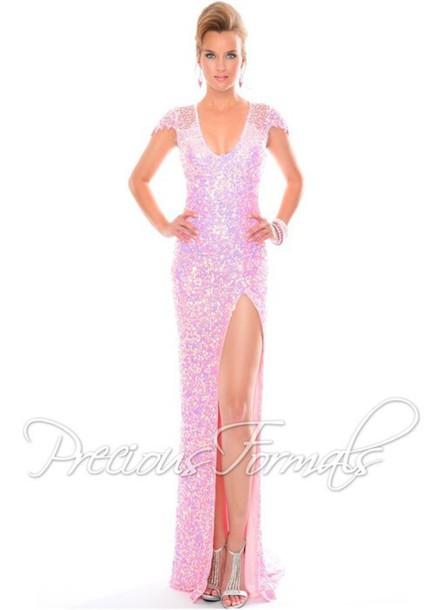 dress prom gown prom dress pink dress slit high slit dress high heels prom gown prom dress help me find cap sleeve dress long prom dress