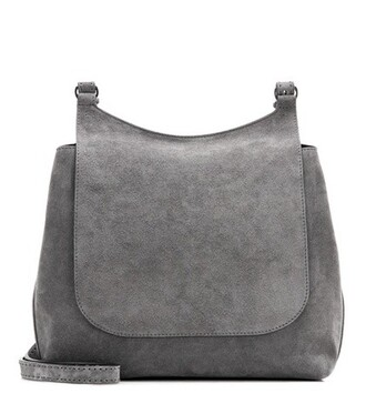 bag shoulder bag suede grey