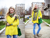 sweater,romwe,cardigan,yellow