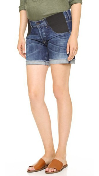Citizens Of Humanity Skyler Loose Maternity Shorts - Blue Ridge
