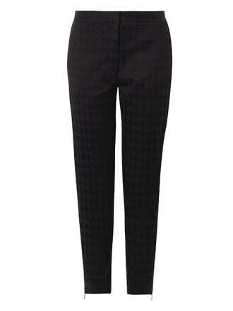 jacquard black pants