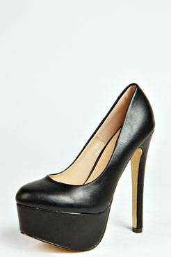 Nikki Glitter Sole Round Toe Court Shoes at boohoo.com
