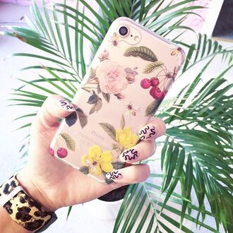 phone cover yeah bunny iphone8 iphone8cherry flowers