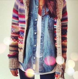 cardigan multicolor striped cardigan