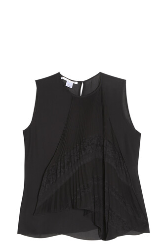 top pleated black
