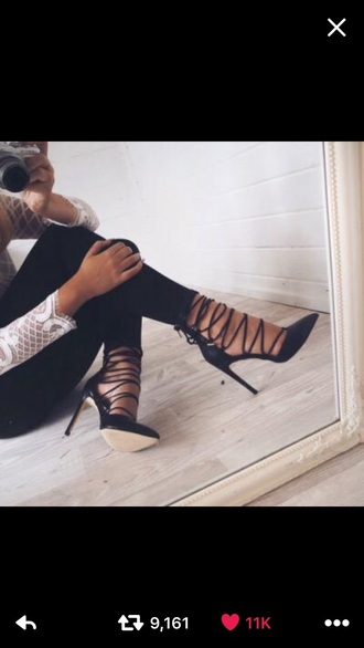 shoes heels blac straps heels with straps