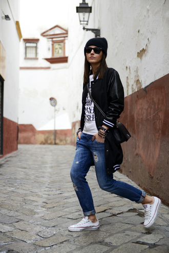 lovely pepa jacket t-shirt jeans bag hat jewels