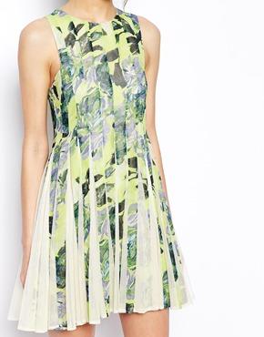 ASOS | ASOS SALON Mini Floral Stripe Dress at ASOS