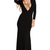 Black Plunging Neckline Sexy Mermaid Dress