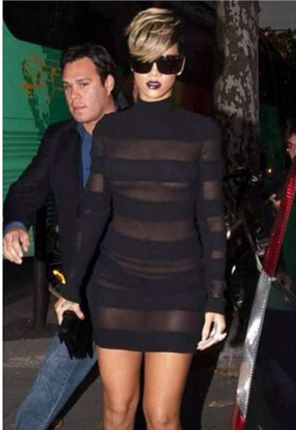 dress black dress rihanna sexy