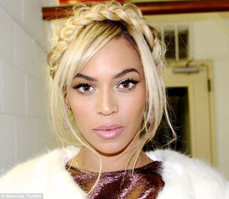 beyoncé hair accessories milkmaid braid ash blonde