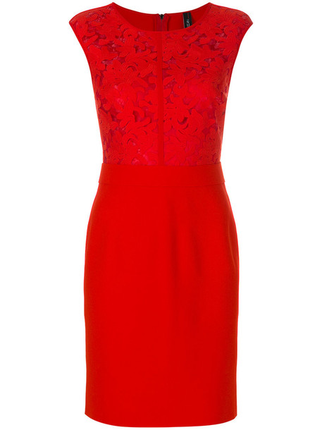 Marc Cain dress women lace red