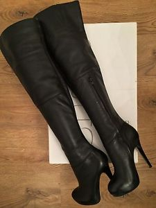 5e66acadbb5 Topshop Barley2 Leather Over The Knee Thigh High Boots - Size 4