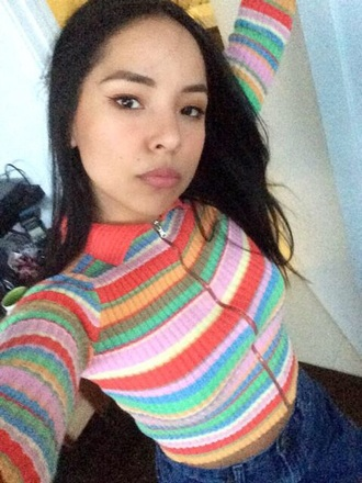 color/pattern selfie rainbow youtuber stripes