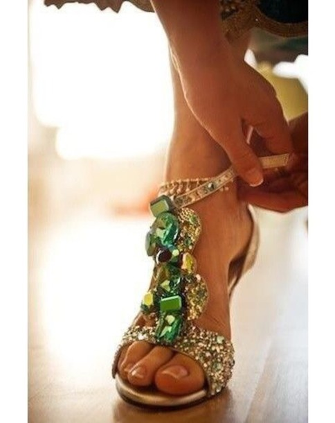 shoes emerald green heels wedding high-heels sandals jewels high heels sandal heels wedding shoes green