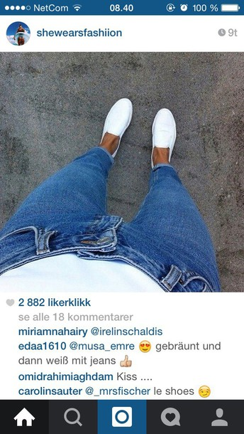 shoes white shoes jeans blue skinny jeans