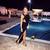 Lace Slit Evening Bandage Dress Black