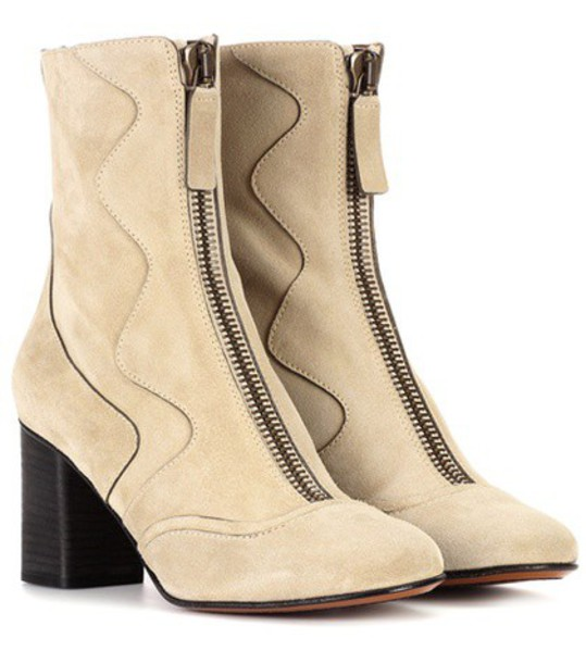 Chloe suede ankle boots ankle boots suede beige shoes