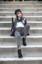 atsuna matsui,atsuna matsui »,blogger,shoes,jeans,hat,top,jacket